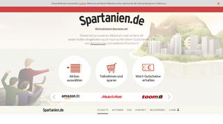 Spartanien.de Partnerprogramm Screenshot der Website